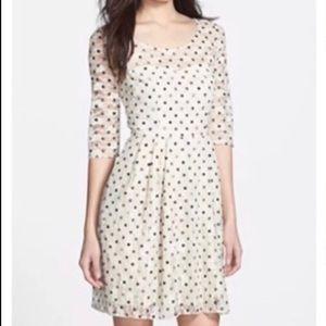 Betsey Johnson Polka Dot Lace Dress